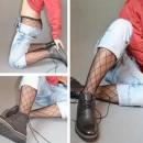 镂空网男士连裤袜